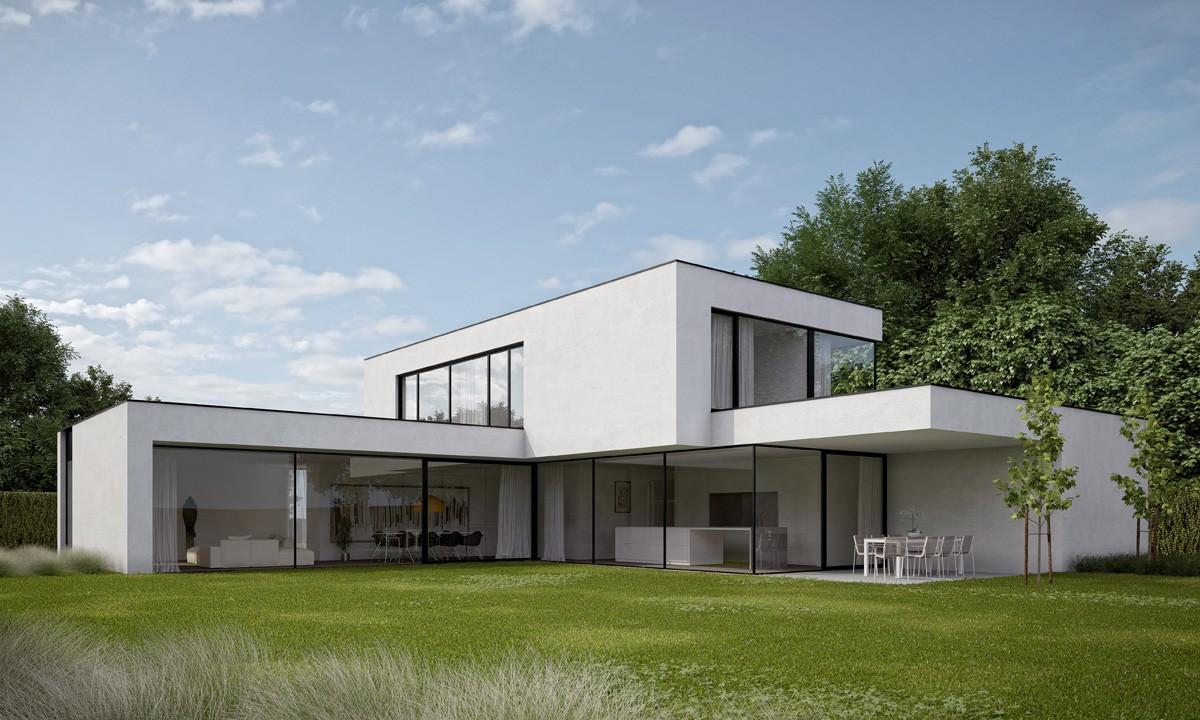 Nieuwbouw villa bouwen van moderne gezinswoning for Woningen moderne villa