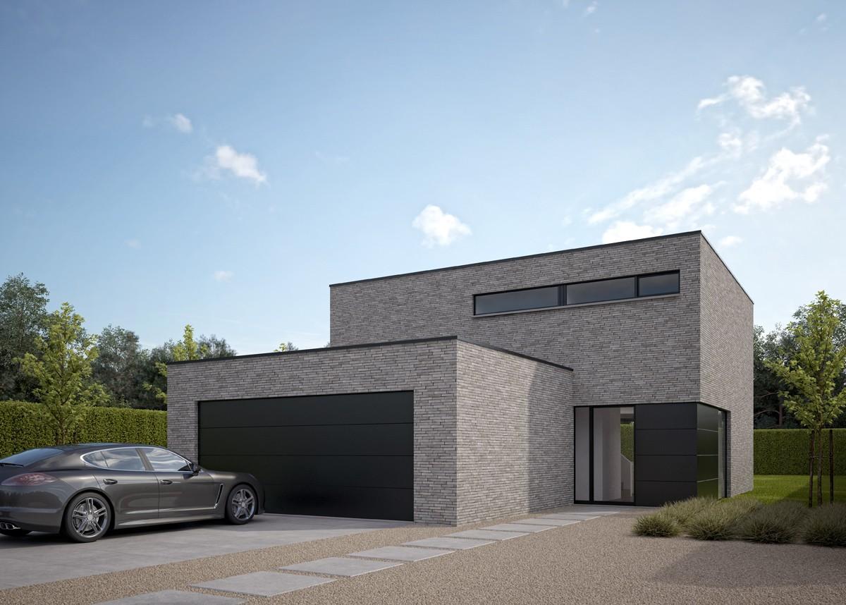 Moderne villa bouwen van een ngezinswoning for Moderne villa