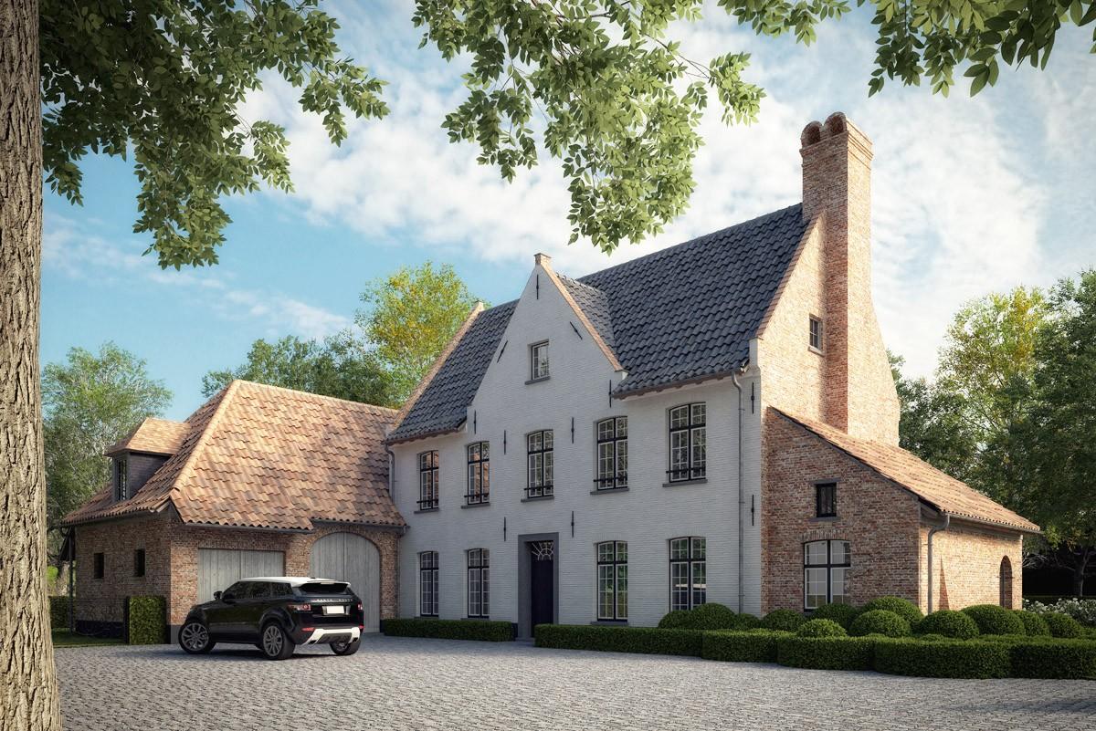 Begijnhofwoning nieuw te bouwen woning in hoevestijl - Binnen houten huis ...